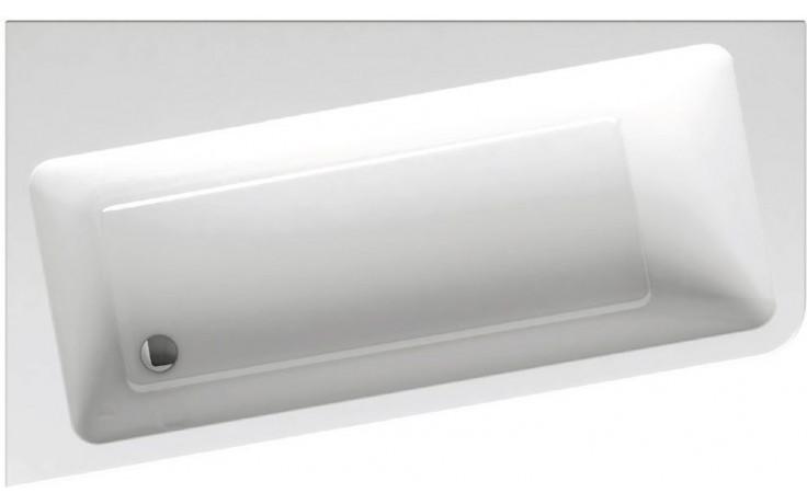 RAVAK 10 160 L asymetrická vana 1600x950x610mm akrylátová, pravá, snowwhite