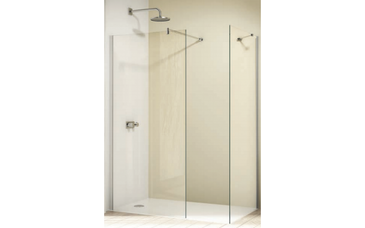 Zástěna sprchová boční Huppe sklo Design elegance příčná vzpěra 1000x2000mm stříbrná matná/čiré AP