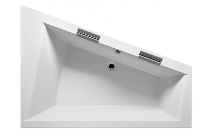 Vana plastová Riho tvarovaná Doppio pravá 180x130cm bílá
