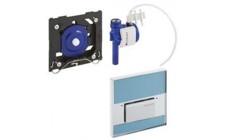 GEBERIT ovládání splachování pisoárů Sigma 50, 13x13cm, pneumatické, ruční, kouřové sklo zrcadlové 116.016.SD.5