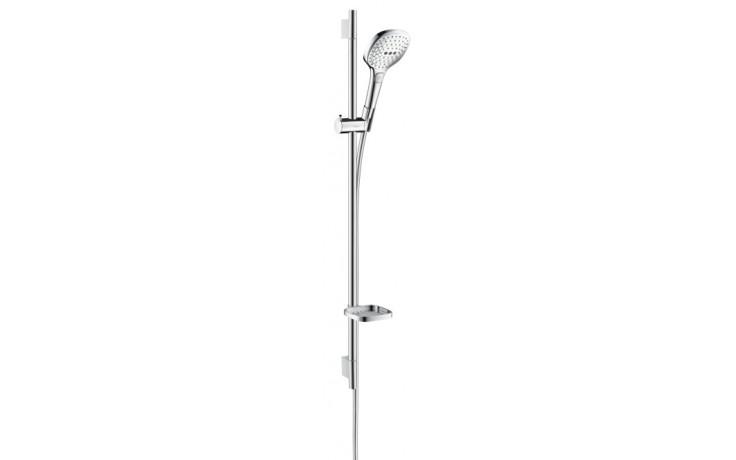 HANSGROHE sada ruční sprcha Raindance Select E 120 3jet/nástěnná tyč Unica'S Puro bílá/chrom 26621400