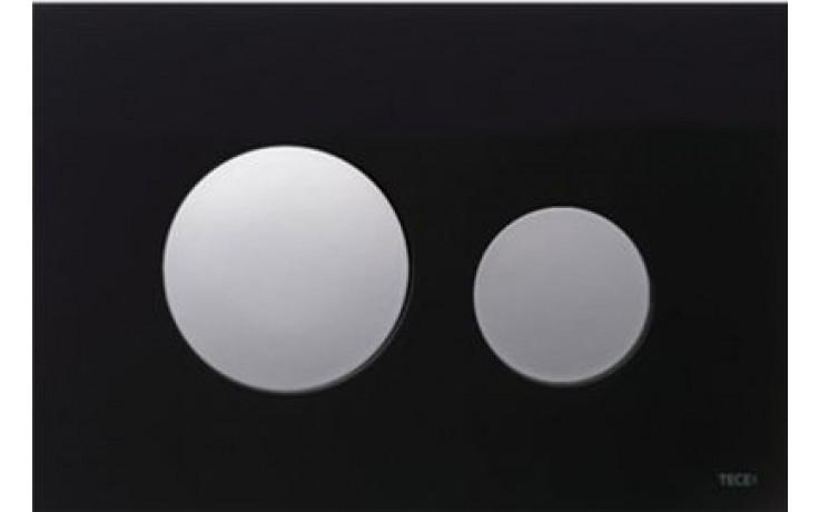 TECE LOOP ovládací tlačítko 220x150mm, dvoumnožstevní splachování, černá/chrom