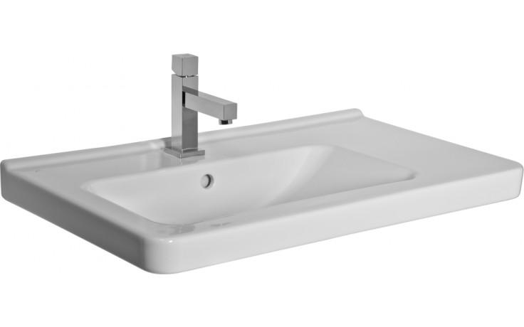 Umyvadlo klasické Jika s otvorem Cubito levé 75 cm bílá-JIKAperla