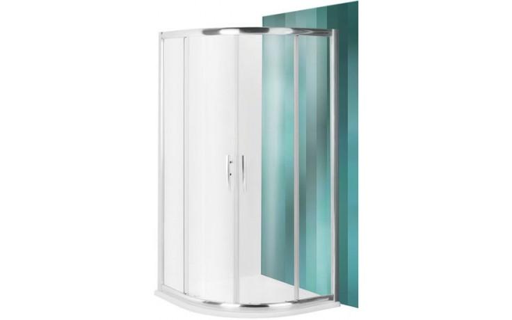 ROLTECHNIK PROXIMA LINE PXR2N/900 sprchový kout 900x1850mm R550 čtvrtkruh, s dvoudílnými posuvnými dveřmi, brillant/transparent