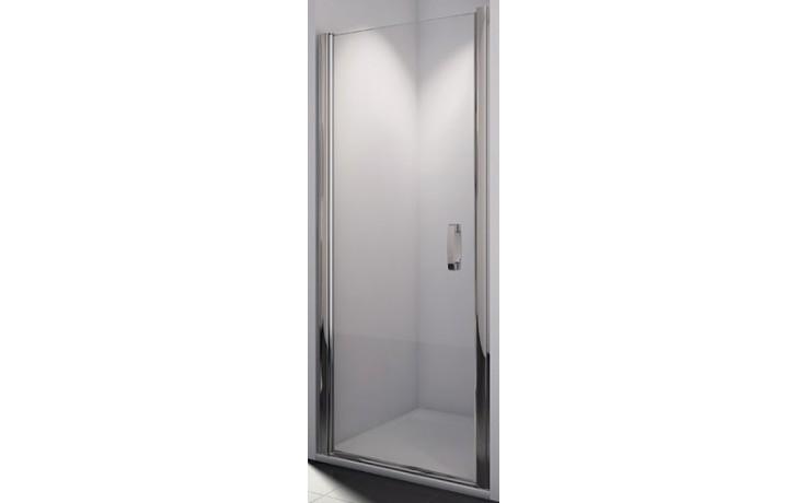 SANSWISS SWING LINE SL1 sprchové dveře 800x1950mm jednokřídlé, matný elox/sklo Durlux
