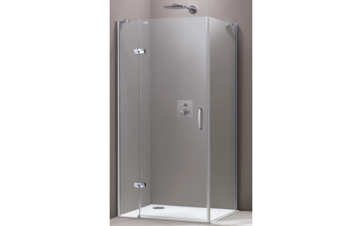 Zástěna sprchová boční Huppe sklo Aura elegance na podlahu Akce 900x2000 mm stříbrná lesklá/Sand Plus AP