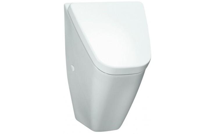 LAUFEN VILA odsávací urinál 310x280mm s cílovou muškou, s otvory pro poklop, vnitřní přívod vody, bílá 8.4114.1.000.400.1