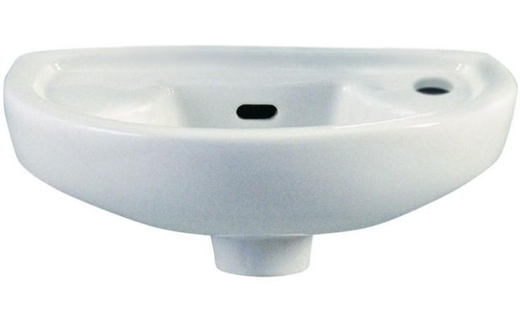 CONCEPT 100 STYLE umývátko 380x245mm bez otvoru, bílá alpin 6018L003-0811