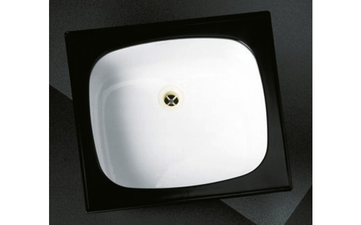 Dřez plechový-smalt Norma jednoduchý 540 s rámem 516x450mm bílý