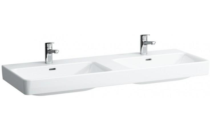 LAUFEN PRO S dvojumyvadlo do nábytku 1300x460mm s otvorem, bílá LCC 8.1496.8.400.104.1