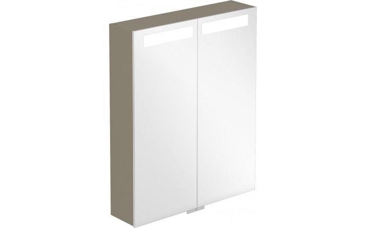 VILLEROY & BOCH VERITY DESIGN zrcadlová skříňka 600x149x746,5mm s osvětlením, antracit lesk B304F6FP