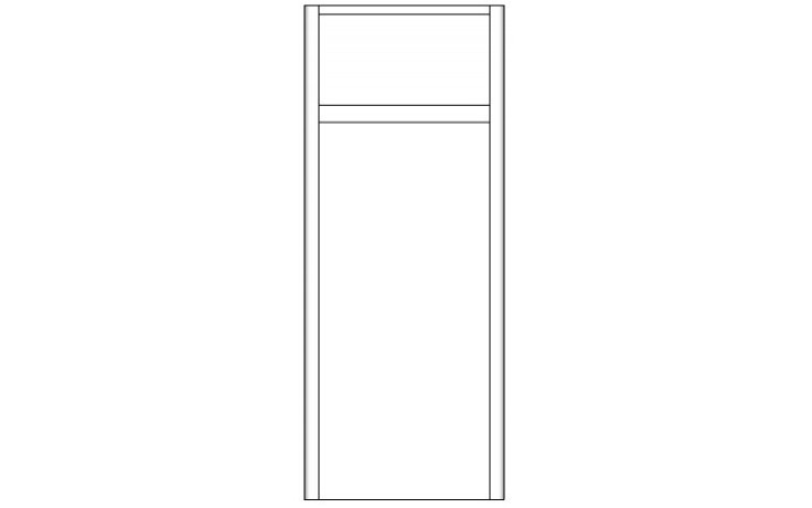 CONCEPT 600 doplňková skříňka 35x35x87cm s dvířky a zásuvkou, levá, hnědá/hnědá C600.S2L.BG