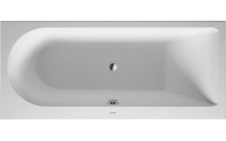Vana plastová Duravit - Darling New rohová pravá 160x70 cm bílá
