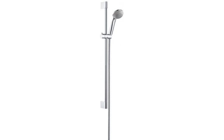 HANSGROHE CROMETTA 85 GREEN sada sprchová hadice 1,60m s ruční sprchou a nástěnnou tyčí, chrom