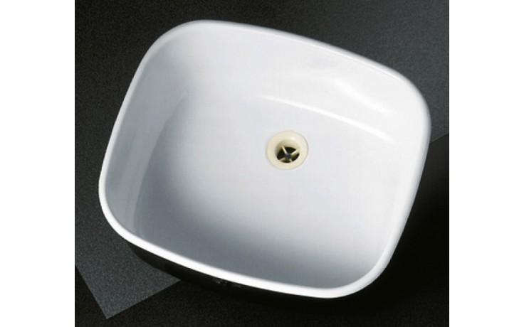 Dřez plechový-smalt Norma jednoduchý 509 509-U bez přepadu oválný 450x380mm bílý