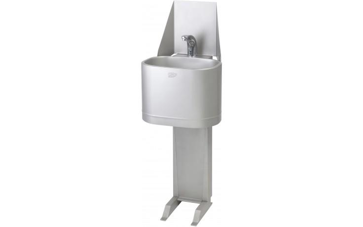 AZP BRNO AUM 06.TV umyvadlo 370x1150mm, s termostatickým ventilem, stojanové, nerez
