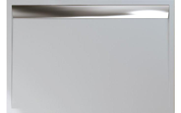 SANSWISS WIA ILA sprchová vanička 80x90mm, obdélník, se sifonem a krytem, litý mramor, bílá