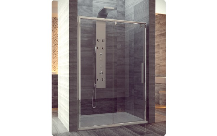 Zástěna sprchová dveře Ronal sklo Pur Light S PLS2G 140 50 07 1400x2000mm aluchrom/čiré