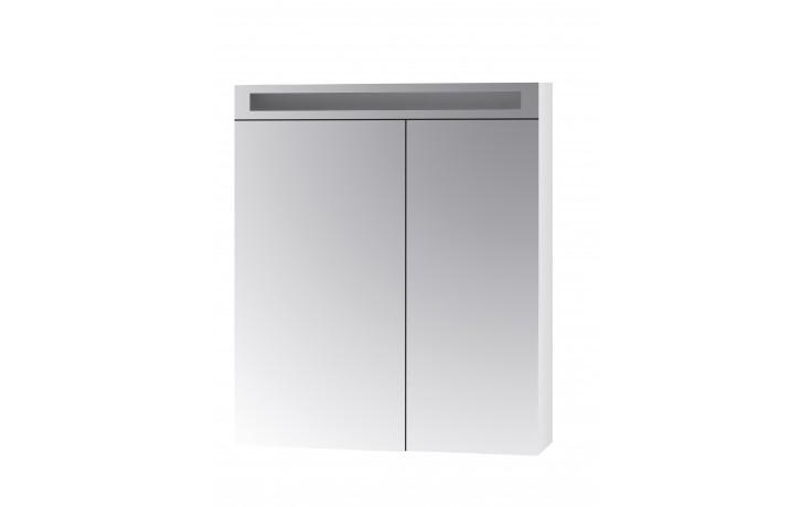 Koupelnová galerka MAX GA 70 2D je vyrobena z bíle lakovaných LTD desek. Přední část této galerky je řešena oboustrannými otevíratelnými zrcadly, která jsou upevněna na značkových kovových pantech Grass. Zrcadla jsou k pantům přichycena pomocí speciální z