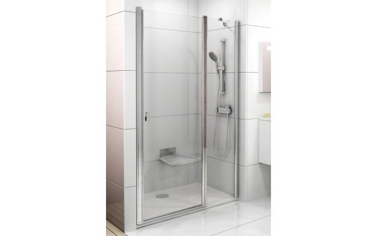 Zástěna sprchová dveře Ravak sklo Chrome CSD2 1100x1950 mm satin/transparent