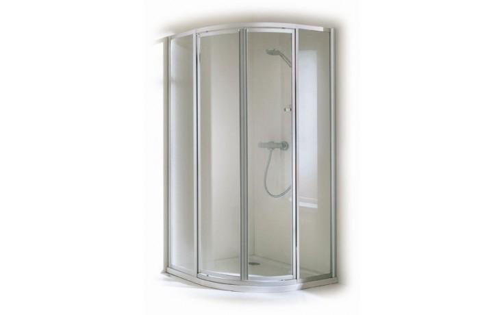 Zástěna sprchová čtvrtkruh - plast Concept 100 800x1900mm bílá/plast matný