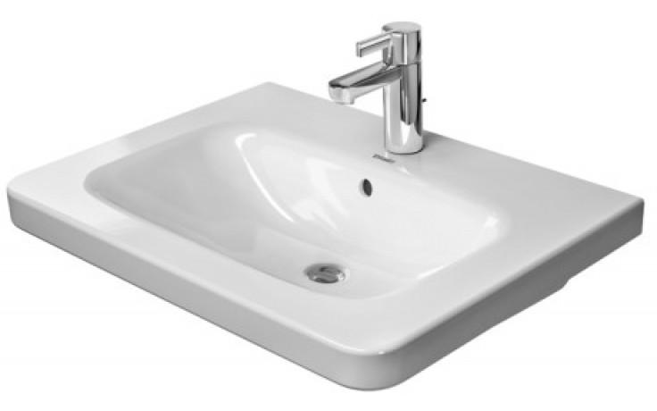 Umyvadlo nábytkové Duravit s otvorem DuraStyle 2320650000 65x48 cm bílá