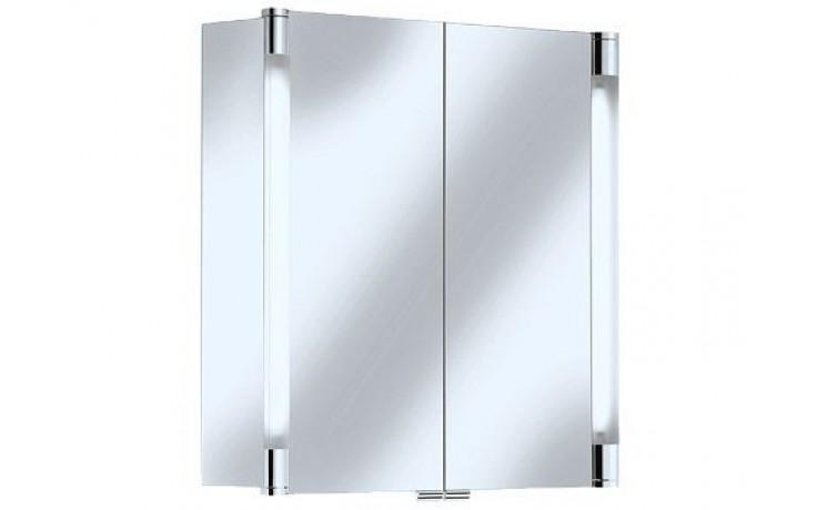 Nábytek zrcadlová skříňka Keuco Royal T2 13801171301 (13801171311 ) 70x70x16,6 cm elox