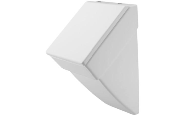 DURAVIT VERO urinal 295x320mm s přítokem zezadu, bílá/wonder gliss 28013200001