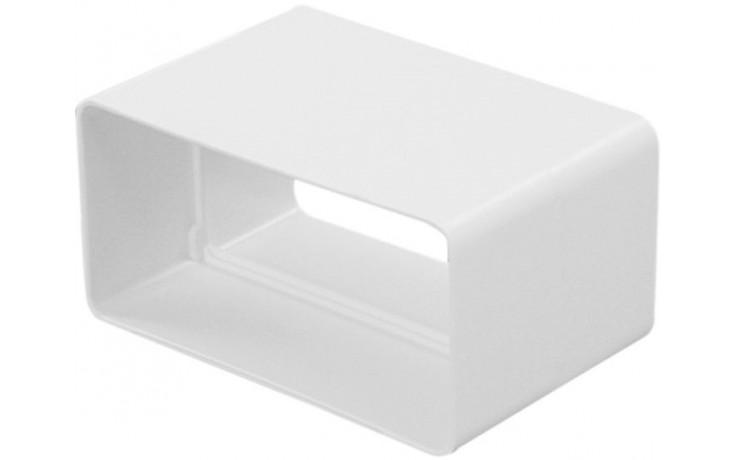HACO CVP 110x55 ventilační systém 110x55mm, spojka plochého kanálu, bílá