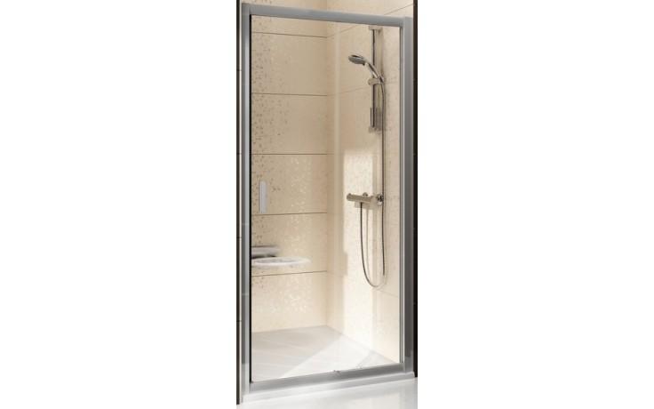 Zástěna sprchová dveře Ravak sklo BLIX BLDP2-110 1100x1900mm bílá/transparent