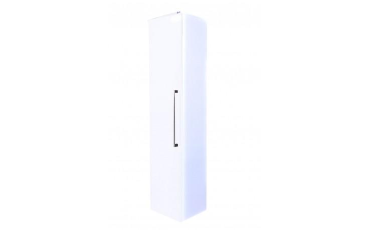 Nábytek skříňka Eden Rubín závěsná, vysoká 35x150x30 cm bílá lesklá/bílá lesklá