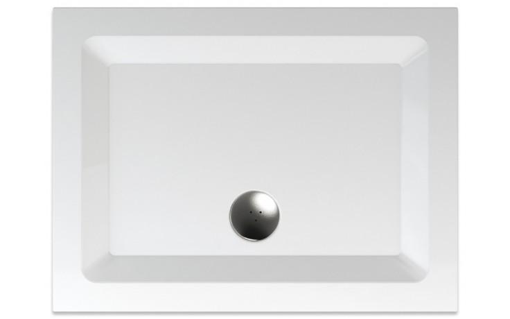 TEIKO PALLAS sprchová vanička 100x75x5cm, obdélník, akrylát, bílá