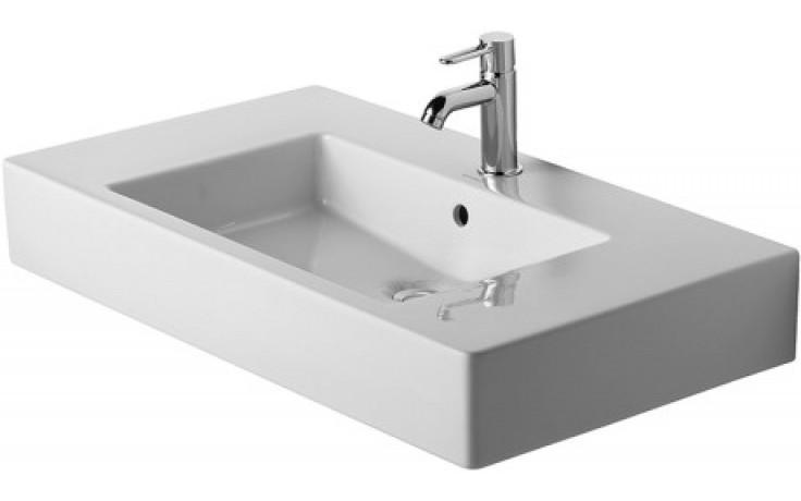 DURAVIT VERO nábytkové umyvadlo 850x490mm s přetokem, bílá/wonder gliss 03298500001