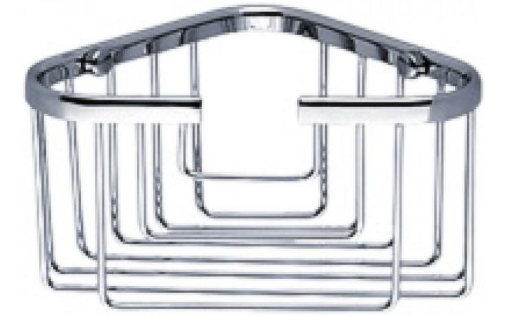 Doplněk polička Nimco Open rohová, drátěná 13,5x13,5x8,5 cm chromovaná mosaz
