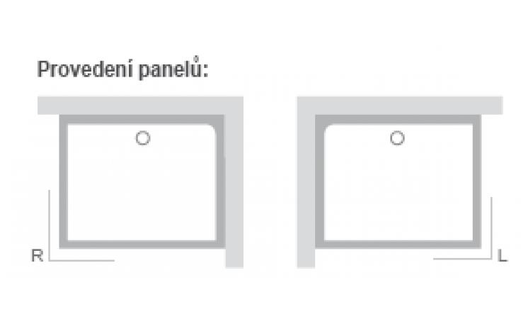 RAVAK GIGANT PRO SET L panel 1000x800mm levá XA83AL01010