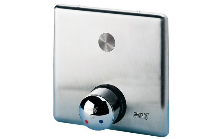 SANELA SLS02PB piezo ovládání sprchy, 9V, se směšovací baterií pro teplou a studenou vodu, antivandal, nerez