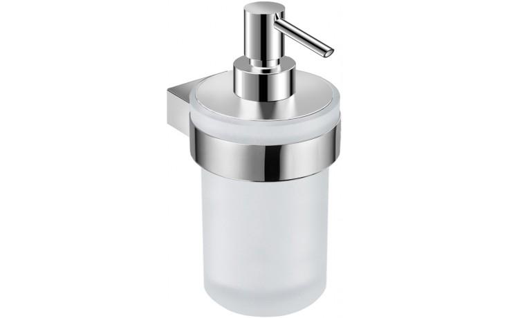 JIKA PURE držák se skleněným dávkovačem tekutého mýdla 76x107x164mm chrom/matné sklo 3.833B.1.004.000.1
