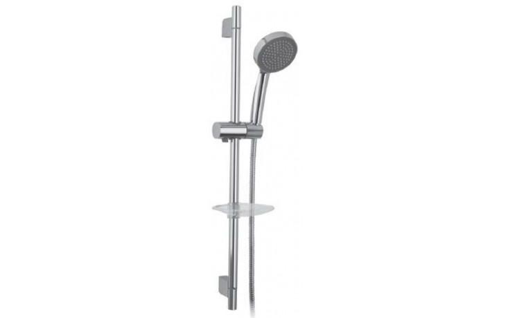 Sprcha sprchový set Raf komplet, pohyblivý držák, hadice, sprch.ružice, mýdlenka 80cm,150cm chrom