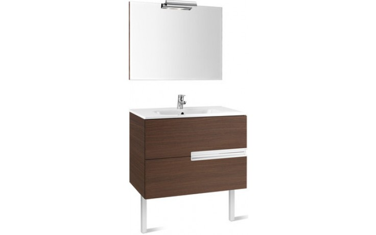 ROCA PACK VICTORIA-N nábytková sestava 905x460x565mm skříňka s umyvadlem a zrcadlem s osvětlením dub 7855828155