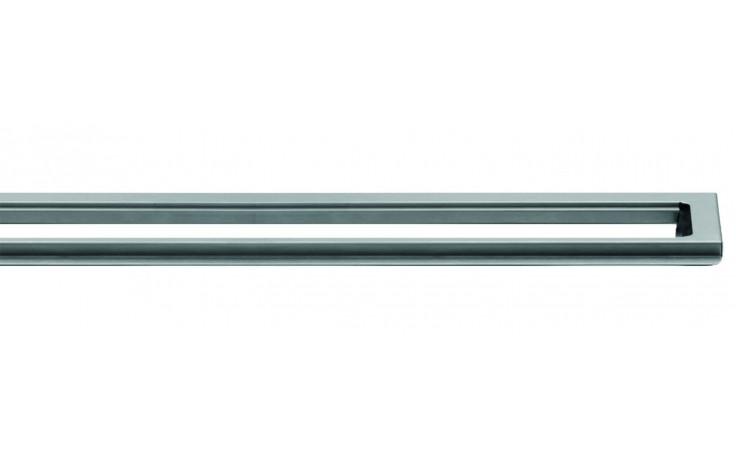 Příslušenství ke žlabům Unidrain - Rámeček  ClassicLine 8mm (podélný systém) v.8/délka 1000mm nerez