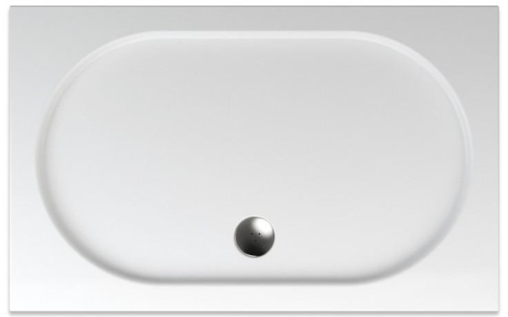 TEIKO DIOVA sprchová vanička 120x75x3,5cm, obdélník, akrylát, bílá