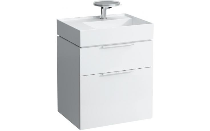 LAUFEN KARTELL BY LAUFEN skříňka pod umyvadlo 595x455x617mm se 2 zásuvkami, bílá 4.0755.2.033.631.1