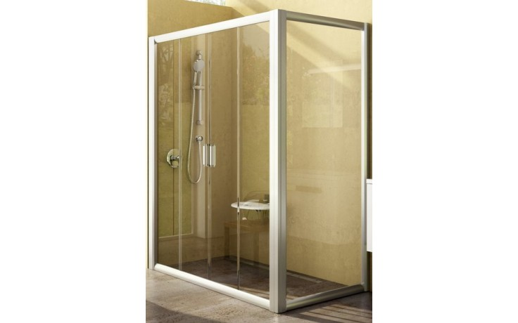 Zástěna sprchová boční Ravak sklo Rapier RPS-80 800x1900 mm satin/grape