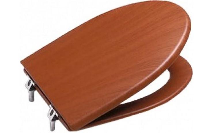 ROCA AMERICA klozetové sedátko s poklopem, odnímatelné, s antibakteriální úpravou, Slowclose, imitace dřeva třešeň 7801492M14