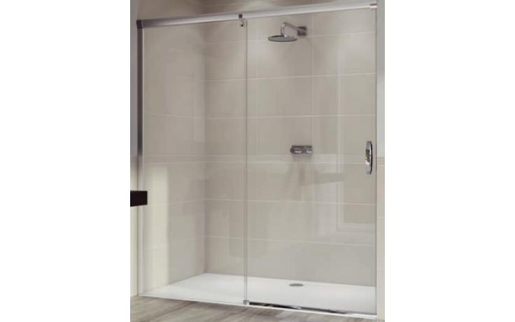 Zástěna sprchová dveře Huppe sklo Aura elegance 1400x1900 mm stříbrná matná/privatima AP