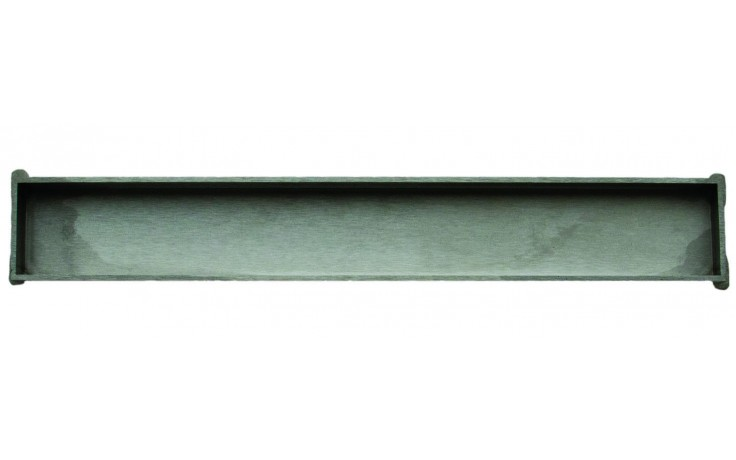 Příslušenství ke žlabům Unidrain - HighLine kazeta k podélnému žlabu 12mm v.12/délka 800mm nerez