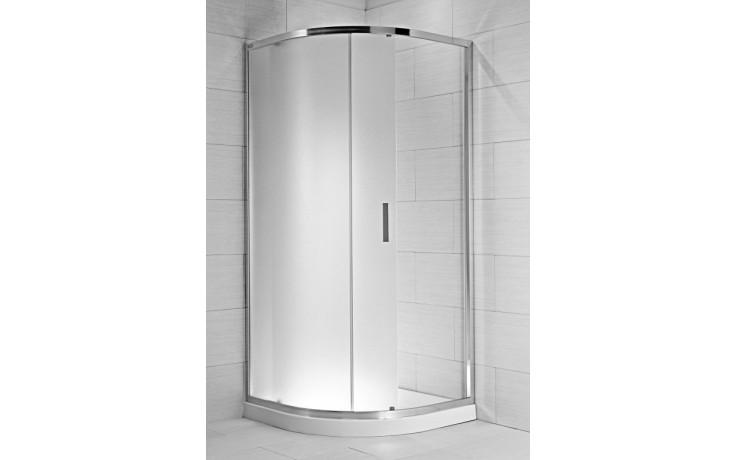 Zástěna sprchová čtvrtkruh Jika sklo Cubito pure 80x195 cm artic
