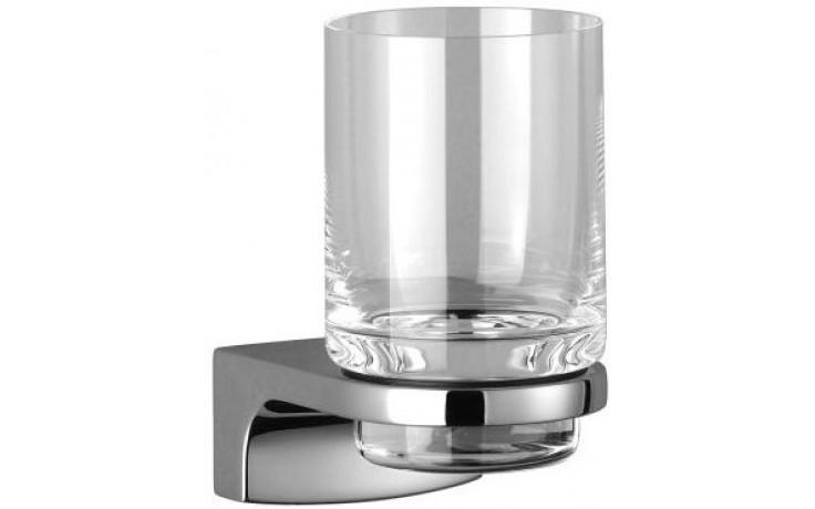 DORNBRACHT CULT držák se skleničkou 65mm nástěnný, sklo/chrom