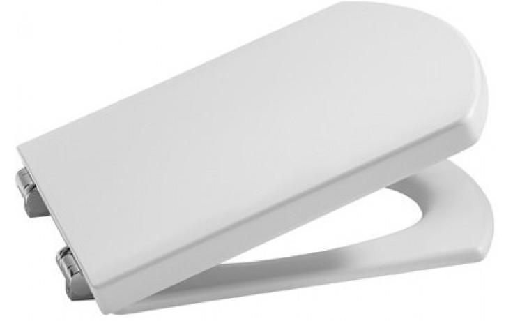 ROCA HALL klozetové sedátko s poklopem, odnímatelné, s antibakteriální úpravou, Slowclose, bílá