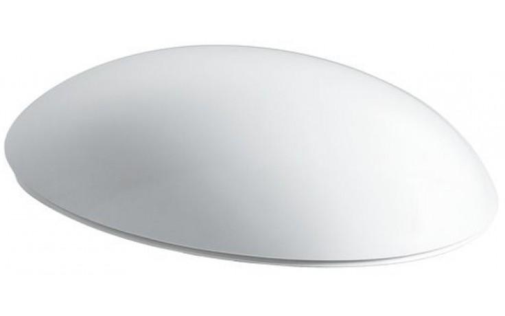 LAUFEN IL BAGNO ALESSI ONE sedátko s poklopem 481x350mm odnímatelné, s antibakteriální úpravou, sklápěcí systém, bílá